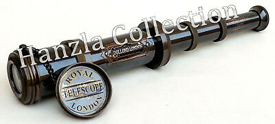 Vintage Nautical Brass Telescope Antique Pirate Spyglass Handheld Marine Scope