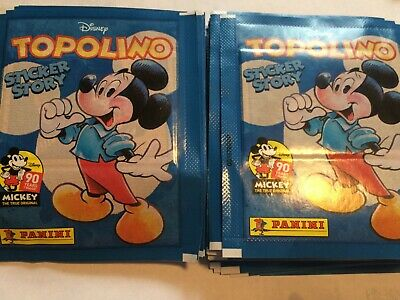 100 Packs Packets of Mickey Mouse Sticker Story Topolino Stickers PLEASE READ