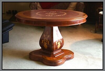 Dutch Round Table, Marquetry, Walnut, EXLNT COND! Date Unknown.