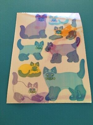 Vtg MOP Pearly Opal Siamese Cats Maxi Stickers Sandylion