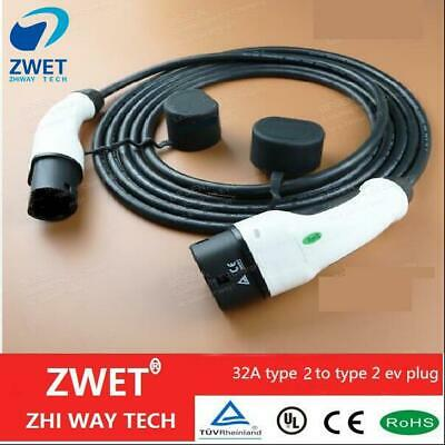 V Fast EV Electric Car Vehicle Charging Cable Type 2 to Type 2 32 Amp  5 Meter