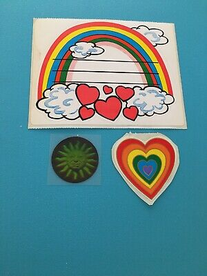 Vtg Rainbows Hearts Hologram Sun Stickers Lot