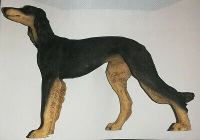 Black & Brown Saluki Dog Model - By Castagna (1996) - FREE P&P