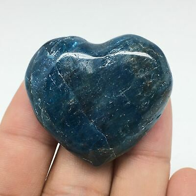 36.1g, 34mm x 38mm x 17mm, Natural Small Blue Apatite Heart Reiki Energy, B1519