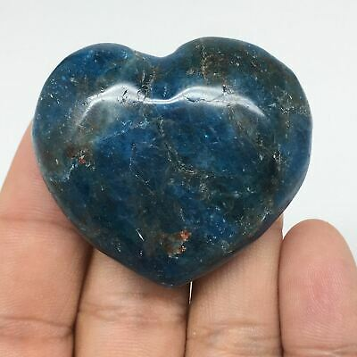 51g, 39mmx44mmx17mm, Natural Small Blue Apatite Heart Reiki Energy, B1470