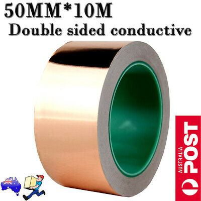 Copper Foil Tape 10m x 50mm EMI shielding double sided conductive adhesive