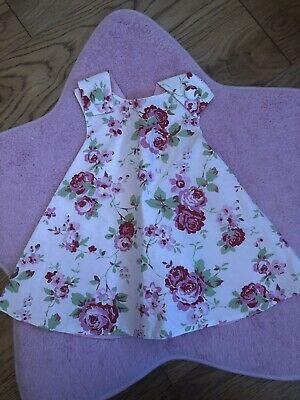 2-3 Years Baby Girls Spanish Style Pink Floral Swirl Dress 3-24 Mth