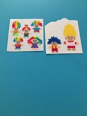 Vtg 80s Stickers Lot Fuzzy Trolls Prism Prismatic Sandylion