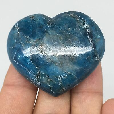 57.6g, 38mmx45mmx20mm, Natural Small Blue Apatite Heart Reiki Energy, B1466