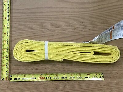 "1"" Wide Standard Nylon Lifting Sling 10 Feet Long Eye To Eye plus Tag USA Made"
