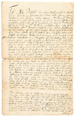 1741 Massachusetts Bay in New England Property Deed Signed, Dorchester (Boston)