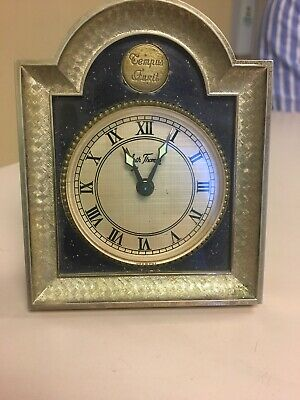 Tempus Fugit Seth Thomas Clock Vintage Blue background Germany Serenity Brass