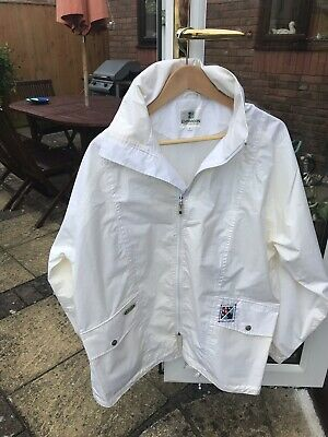 Emsmorn White Bowling Jacket & Trousers Size Medium In Good Condition.
