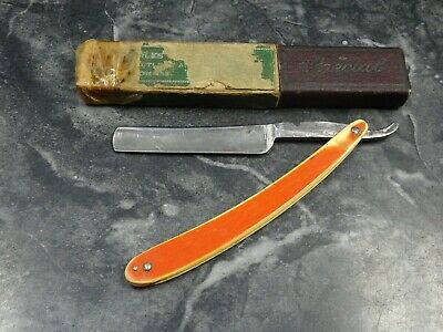 Antique Cattaraugus Cutlery Co. Straight Razor 233 Little Valley N.Y. With Box