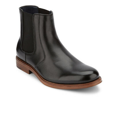 Dockers Mens Ashford Genuine Leather Plain Toe Slip-on Chelsea Dress Boot