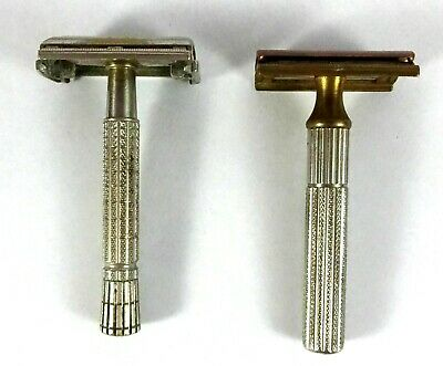 Lot Of Two Gillette Safety Razor - Made In Usa - Vintage