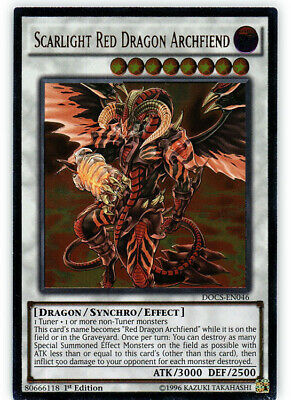 YuGiOh Scarlight Red Dragon Archfiend - DOCS-EN046 - Ultimate Rare - 1st Edition