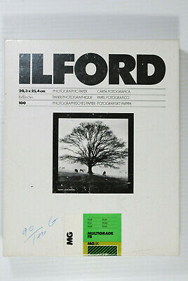 "90 Sheet Box Ilford Mutigrade Fiber-Based Glossy 8x10"" B&W Photo Paper MG.5K"