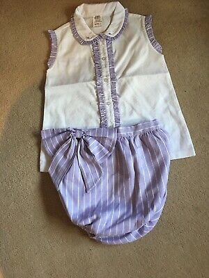 Spanish / Romany Girls Lilac Sleeveless Blouse And Jam Pants Outfit.. Age 4...