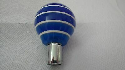 Vintage Multi Blue White Stripes 4Speed Shifter Knob Muscle/Classic Q-Ball,Spins