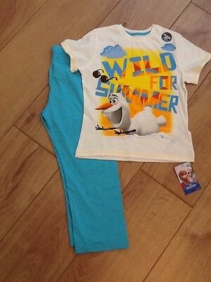 New Marks and Spencers Disney Frozen Olaf Pyjamas Size 4/5 Years