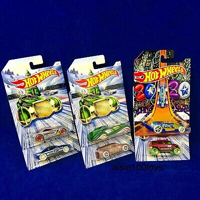 2019 Hot Wheels Christmas Holiday Series Set Of 6 Cars New Years 2020 In Stock!