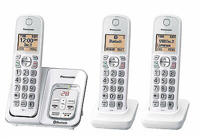Panasonic KX-TG833SK1 Bluetooth Cordless Phone with Voice Assist - 3 Handsets
