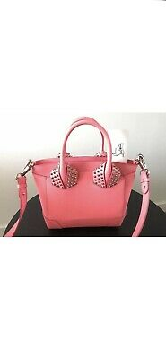 dbc3011570e AUTHENTIC CHRISTIAN LOUBOUTIN ELOISE Medium leather Spike Tote  Bag/PINK/BrandNew