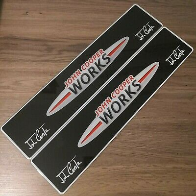 Pair Of Mini John Cooper Works Show Number Plates. JCW GP
