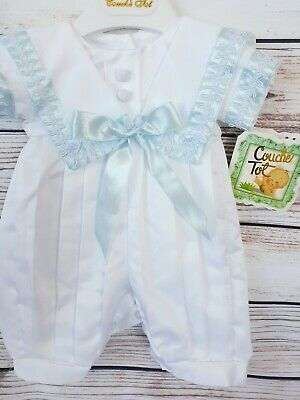 Final Reductions  Couche Tot Spanish  Christening Romper Suit   Silky Material