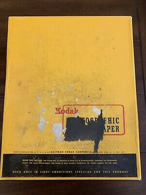 Vintage New Kodak Photograhic Paper 250 Sheets Double Weight F 8x10in Exp 3/63