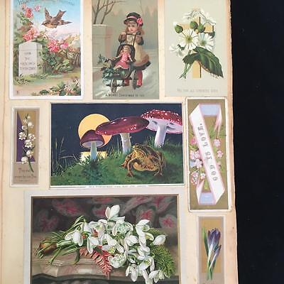 VICTORIAN SCRAP ALBUM with VICTORIAN CARDS