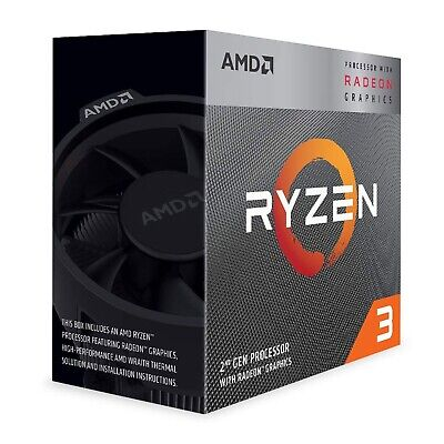 AMD Ryzen 3 3200G 3.6 GHz Quad-Core AM4 CPU with Radeon Graphics YD3200C5FHBOX
