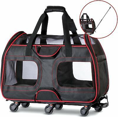 Removable Wheeled Pet Carrier for Small Pets USED FOR TESTING 50% OFF