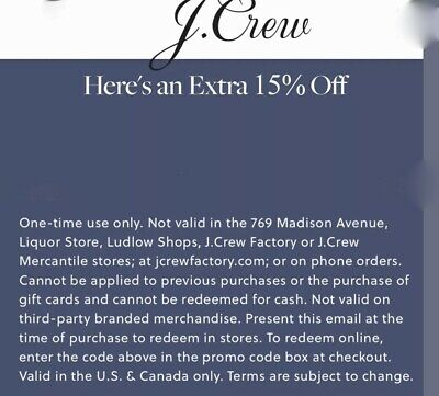 J.crew Extra 15% Off Coupon Code Include Sale Styles Work With Additional Promo