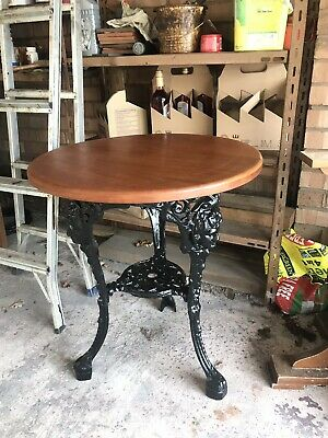 Britannia Vintage Cast Iron Pub Table - Restored
