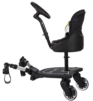 Easy X2 Rider Sit N Ride 2 Wheeled Rider Universal Buggy Ride On Board with Seat