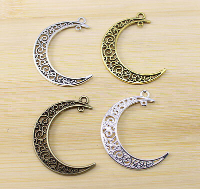12/30/50 pcs wholesale:Retro Style Very beautiful Hollow out moon Charm pendant