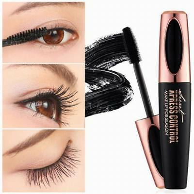 Black 4D Silk Fiber Eyelash Mascara Extension Makeup Waterproof Eye Lashes Kit