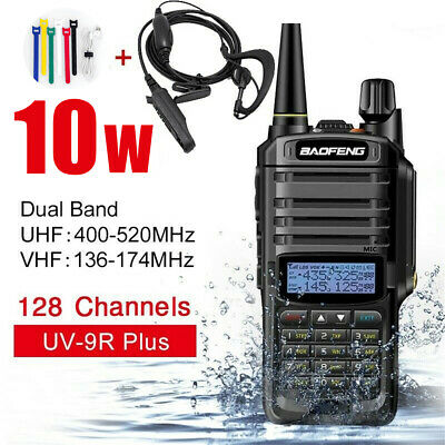 Baofeng UV-9R Plus Walkie Talkie Dual Band Handheld Two Way Radios for Camping