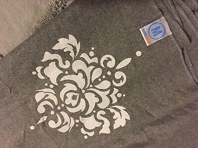 Moby Wrap Baby Wearing Sling GRAY with Damask White Graphic PRETTY UNIQUE EUC