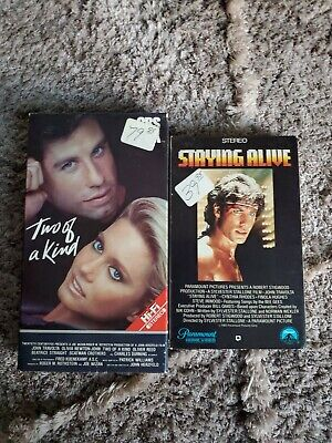2 John Travolta video lot Staying Alive Two of a Kind Olivia Newton John Beta