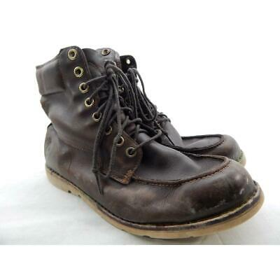 Details about Timberland Brown Leather Mens Earthkeepers Newmarket Wedge Boots Plain Toe 6814A