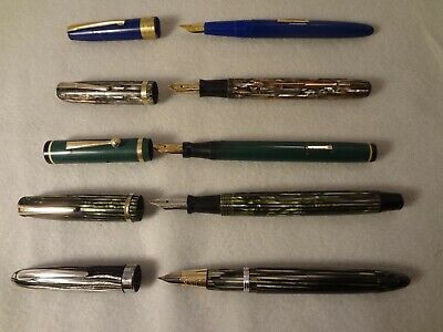 Vintage Fountain Pens Shaeffer Wearever Conklin Moore Stratford 3-14K Nib