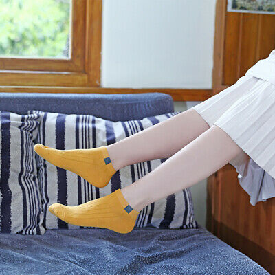 Women Solid Cotton Low Cut Non-Slip Soft Boat Socks Breathable High Quality NEW#