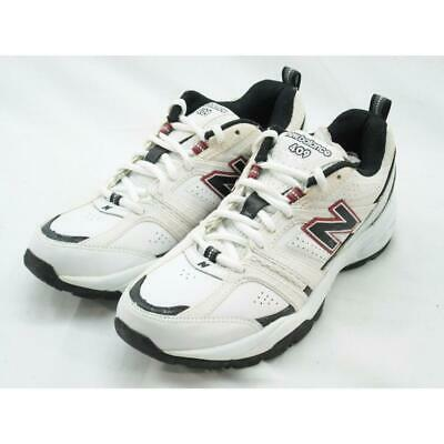 New Balance Men's MX409WB  White/Black/Red Cross Training Sneaker 7 D