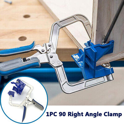 90 Degree Corner Clamp Face Frame Woodworking Fixture Fit Auto-adjustable Angle