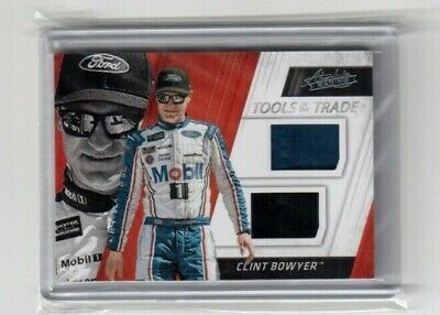 Nascar 2017 Panini Absolute Racing Tools of the Trade Card # TTD-CB Clint Bower