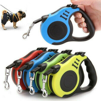 3M Retractable Dog Lead Tape Extendable Leash Pet Puppy Training Walking Rope F