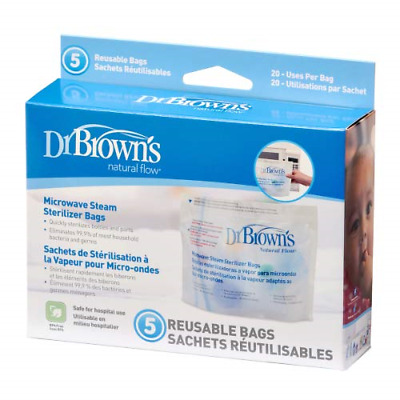 Dr Brown's Natural Flow Microwave Steam Sterilizer Bags x 5